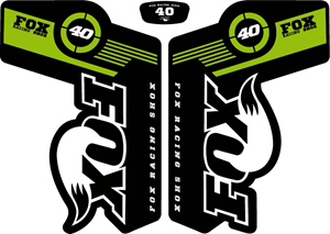 Fox 40 2011 - MTB Fork Decals Logo Vector