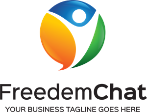 Freedem Chat Design Logo Vector
