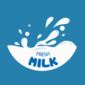 Fresh milk company Logo Vector
