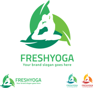 fresh yoga Logo Vector