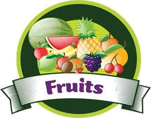 fruits Logo Vector
