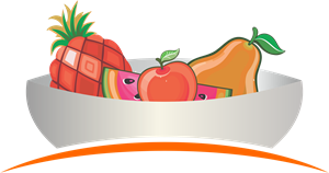 Fruits Plate Logo Vector