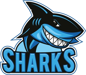 Funny sharks Logo Vector