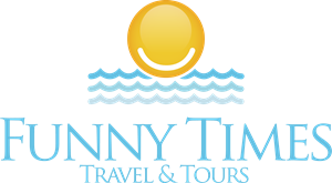 FUNNY TIMES TRAVEL Logo Vector