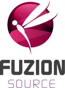 Fuzion source dragonfly Logo Vector