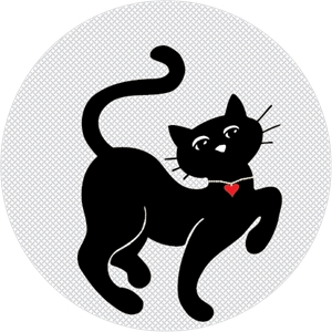 Gatto Chic Logo Vector