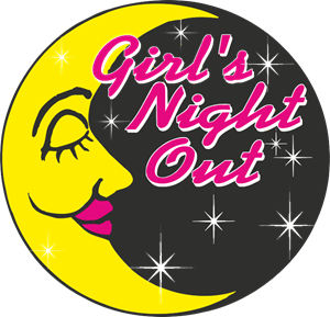 Girl's Night Out Logo Vector