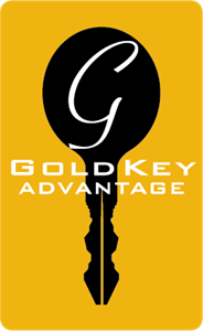 Gold Key Advantage Logo Vector