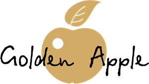 Golden Apple Logo Vector