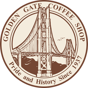 Golden Gate Coffee Shop Logo Vector