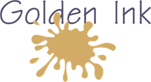 Golden Ink Logo Vector