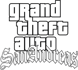 Grand Theft Auto SanAndreas Logo Vector