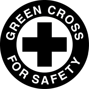 Green Cross For Safety Logo Vector