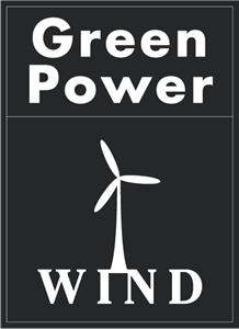 Green Power Wind Logo Vector