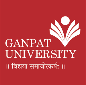 Ganpat University Logo Vector