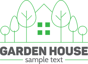 Garden house Logo Vector
