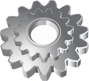 Gear Wheel Mechanic Logo Vector