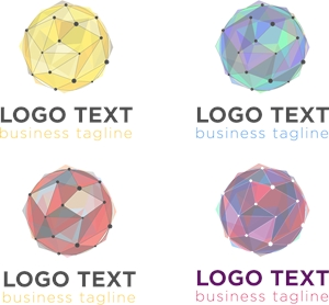 Geometric ball Logo Vector