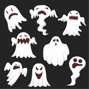 ghost set Logo Vector