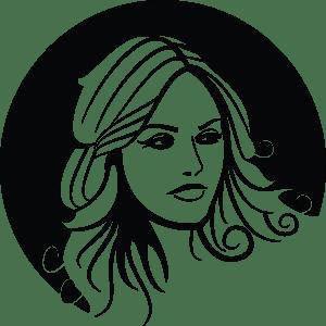 girl circle design logo vector ai free download
