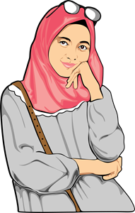 girl muslim Logo Vector
