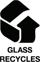 Glass Recycles Logo Vector