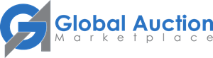Global Auction Marketplace Logo Vector