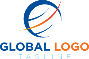 Global blue and orange Logo Vector