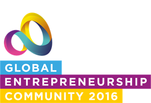 Global Entrepreneurship Community 2016 Logo Vector