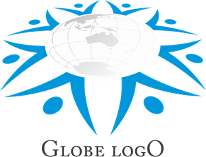 Globe People Work Logo Vector