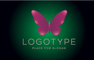Glossy Butterfly Logo Vector