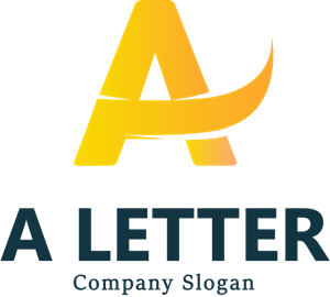 Golden A Letter Logo Vector