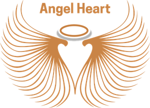 golden angel heart Logo Vector