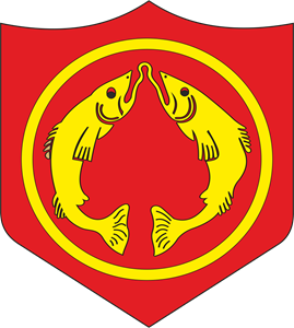 Golden Fish Army School Logo Vector