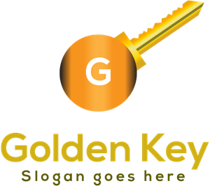 Golden key Logo Vector