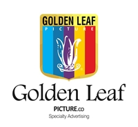 Golden Leaf Picture Logo Vector