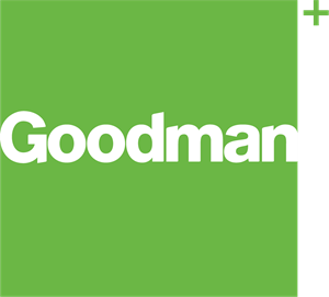 goodman logo. goodman group logo vector o