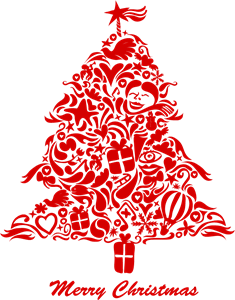 graffiti christmas tree Logo Vector