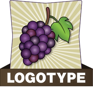 Grapes Logo Vector