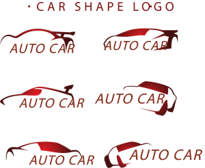 Great car red tones Logo Vector