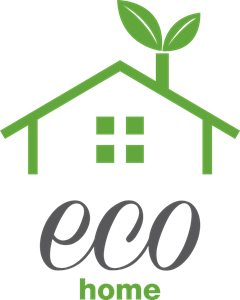 Green eco Home Logo Vector