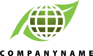 Green Globe Logo Vector