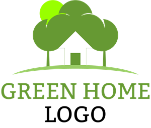 Green Home Logo Vector