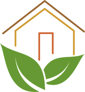 Green Leaf House Logo Vector