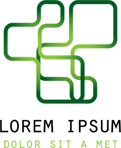 Green Line Shape Logo Vector