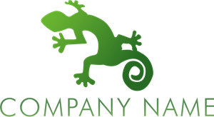 Green Lizard Company Logo Vector