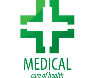 Green medical health Logo Vector