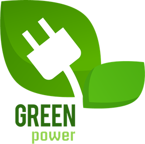 Green Power Logo Vector