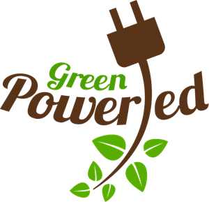 Green Powered Logo Vector