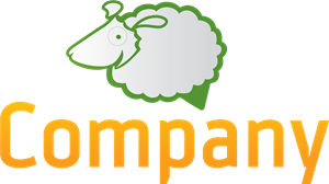 Green Sheep Company Logo Vector